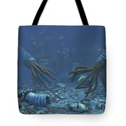 Squid-like Orthoceratites Attempt Tote Bag