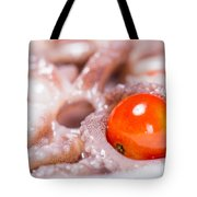 Squid Raw Cherry Tomatoes And Parsley Tote Bag