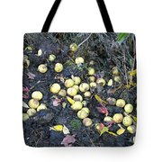 Squirrel Cache In Compost Pile Tote Bag