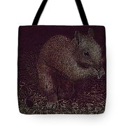 Squirrely Art Tote Bag