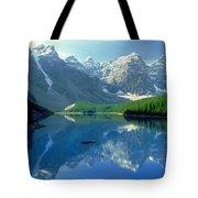 S.short Canoeist, Moraine Lake, Ab, Fl Tote Bag by Steve Short