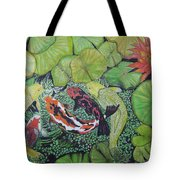 Summer Pond At Lunchtime Tote Bag