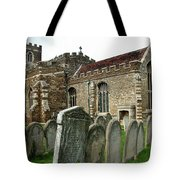Church Of All Saints, Houghton Conquest, Uk Tote Bag