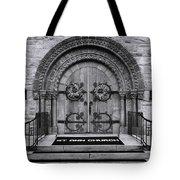 St Ann Church - Bw Tote Bag