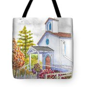 St. Anthony's Catholic Church, Mendocino, California Tote Bag