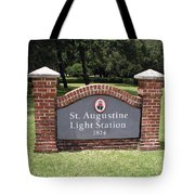 St. Augustine Florida Lighthouse Tote Bag