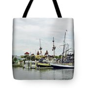 St Augustine Marina From The Water Tote Bag