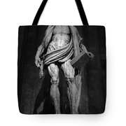 St. Bartholomew In Milan Cathedral By Marco D'agrate In Black And White Tote Bag