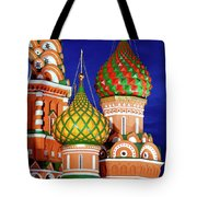 St Basils Cathedral In Moscow Russia Tote Bag