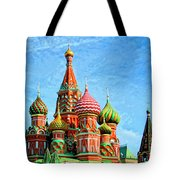 St. Basil's Cathedral Moscow Tote Bag