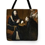 St Benedict Blesses The Bread Tote Bag