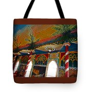 St Benedicts Painted Church 11 Tote Bag