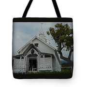 St Benedicts Painted Church 12 Tote Bag