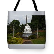 St Benedicts Painted Church 3 Tote Bag