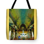 St Benedicts Painted Church 6 Tote Bag
