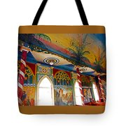 St Benedicts Painted Church 8 Tote Bag