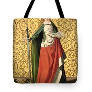 St. Catherine Of Alexandria Tote Bag by Josse Lieferinxe