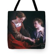 St. Cecilia And An Angel Tote Bag by Granger