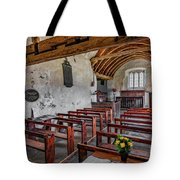 St Celynnin Church  Interior Tote Bag