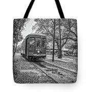 St. Charles Streetcar Monochrome Tote Bag