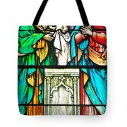 St. Edmond's Church Stained Glass Window - Rehoboth Beach Delaware Tote Bag