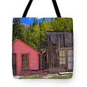 St. Elmo Pink House And Barn Tote Bag