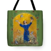 St. Francis And Birds Tote Bag
