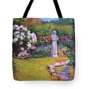 St. Francis In The Garden Tote Bag