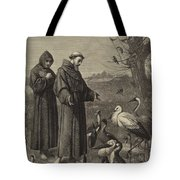 St Francis Preaches To The Birds  Tote Bag