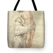 St Francis Rejecting The World And Embracing Christ Tote Bag by Bartolome Esteban Murillo