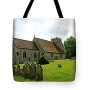 St George's Church At Arreton Tote Bag by Rod Johnson
