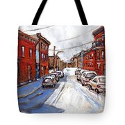 St Henri Depanneur Canadian Paintings Mini Montreal Masterpieces For Sale Petits Formats A Vendre  Tote Bag