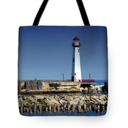 St. Ignace Lighthouse Tote Bag