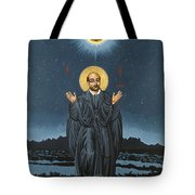St. Ignatius In Prayer Beneath The Stars 137 Tote Bag