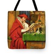 St. Jerome In His Study  Tote Bag by Jan van Eyck