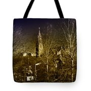 St. John The Baptist From The Rail Road Trestle In Manayunk Tote Bag