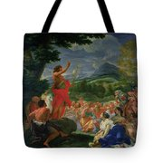 St John The Baptist Preaching Tote Bag