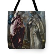 St. John The Evangelist And St. Francis Of Assisi Tote Bag