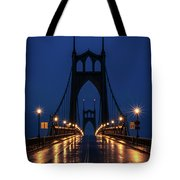 St Johns Bridge Shine Tote Bag