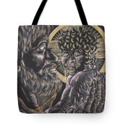 St. Joseph And The Child Jesus Tote Bag