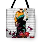 St Joseph Holding Baby Jesus - Catholic Church Qibao China Tote Bag