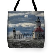 Big Waves - St. Joseph Lighthouse Tote Bag