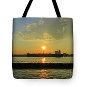 St Lawrence Sunset 3 Tote Bag