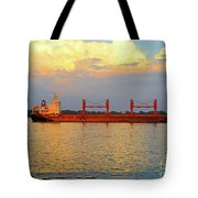 St Lawrence Sunset 5 Tote Bag