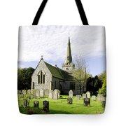 St Leonard's Church At Monyash Tote Bag