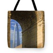 St Louis Arch And Eads Bridge   Tote Bag