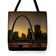 St Louis Arch At Sunset Tote Bag