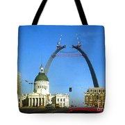 St. Louis Arch Construction Tote Bag