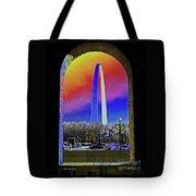 St Louis Arch Rainbow Aura  Tote Bag