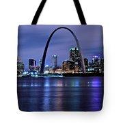 St Louis Black N Blue Tote Bag